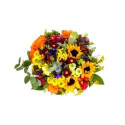 Floarea-soarelui, margarete, trandafiri
