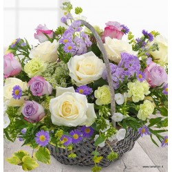 Basket by the lilac tones..