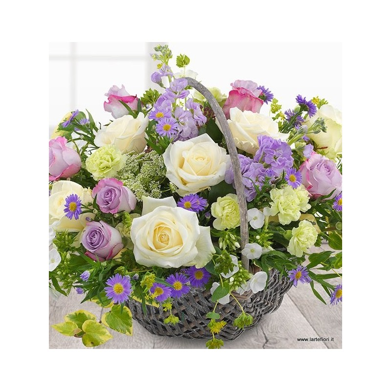 Basket beautiful tones of lilac..