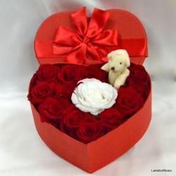 Box Special Cuore di rose Senza Tempo.