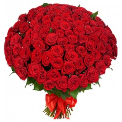 Bouquet of Roses Red and White