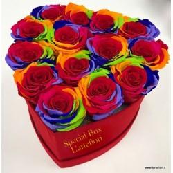 15 Trandafiri rosii intr-o cutie, în entuziasm de neuitat!