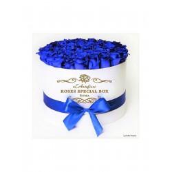 Box special blu roses