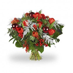 A Bouquet of 24 red roses, medium