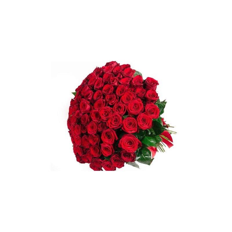 San Valentino5 -Bouquet of red roses and white daisies