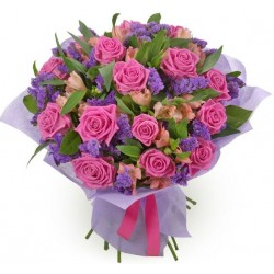 Bouquet di rose aqua