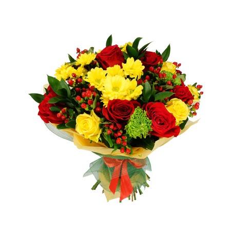 Bouquet giallo e rosso 1