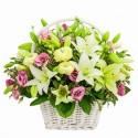 Armonia di fiori  in cesto di vimini