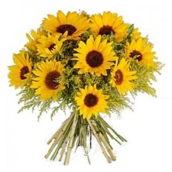 A large Bouquet of Sunflowers