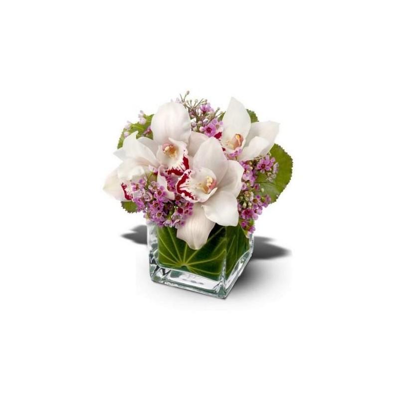 Amato composizioni di Fiori in vasi di vetro KY05