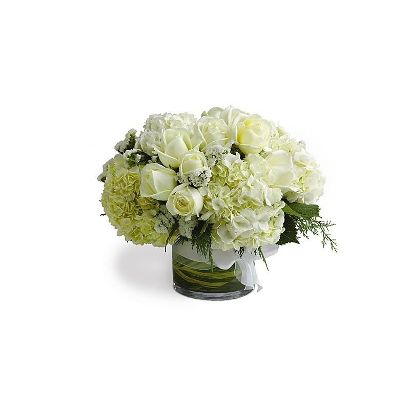 Bouquet Ortensie E Rose : Ortensie in vasi di vetro