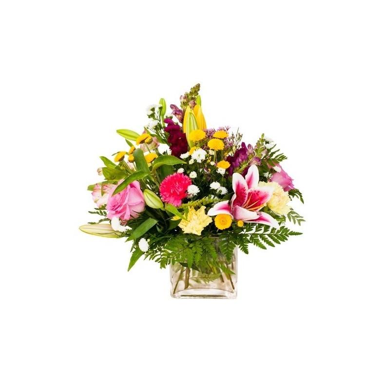 Composizioni di fiori misti in vasi di vetro for Composizioni natalizie in vasi di vetro