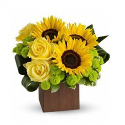 Bouquet of Sunflowers and lilies