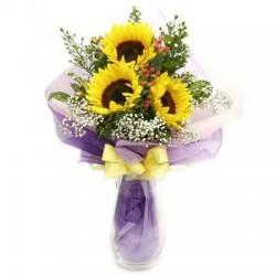 3 Girasoli a bouquet,per chi non vuole esagerare!