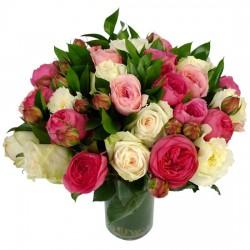 Buchet de Trandafir se amestecă și Bujori