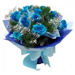 Bouquet fiocco azzurro