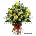 Funeral bouquet with light tones