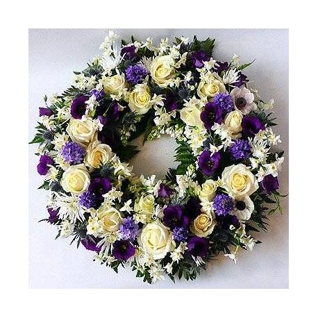 coroncina di fiori per lutto
