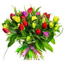 Dar el regalo de los Tulipanes , una simple declaración de amor.