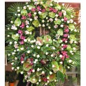 Great Crown of orchids, anthurium and rose.