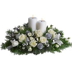 Centrotavolo Natalizio  White Christmas