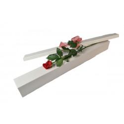 1 Rose emballage spécial , rouge,rose,blanc ou bleu.