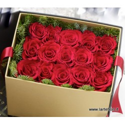 Combination sushi of 15 roses delivered in a box