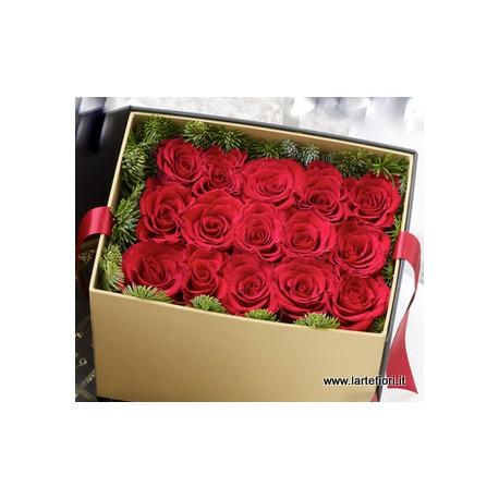 Combinazione sushi di 15 rose in scatola