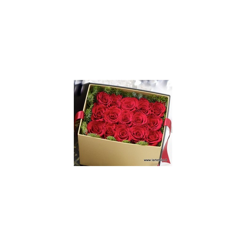 Combination sushi of 15 roses in a box
