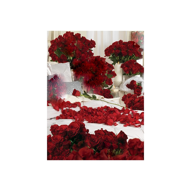 A thousand red roses, the most passionate and romantic gift...