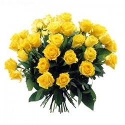 Bouquet de roses jaunes jaune