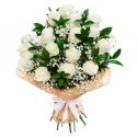 Bouquet of roses white