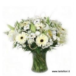 Combinazione di fiori Bianchi campestre