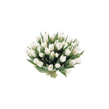 Bouquet di tulipani gialli e giacinti blu