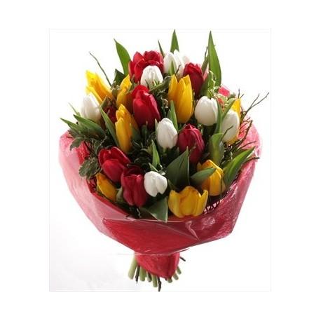 Bouquet di tulipani colorati