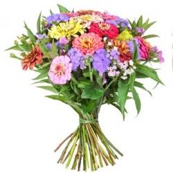 Combinazione di fiori di stagione dai colori misti