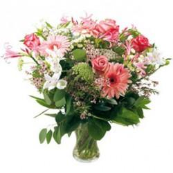 Combinazione di fiori misto rosa