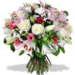 Rondo de flori in culori delicate.