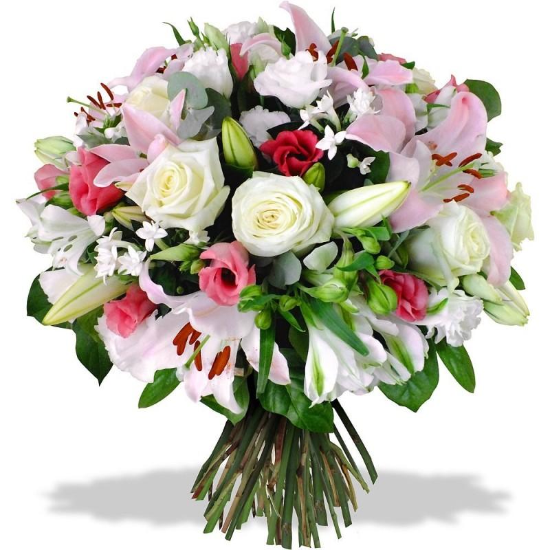 Popolare Rondò di fiori dai colori delicati. - L'ARTEFIORI - FIORI ON LINE ROMA HL02