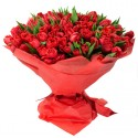 100 red tulips